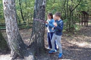 Lekcja w lesie kl.Va i Vb.