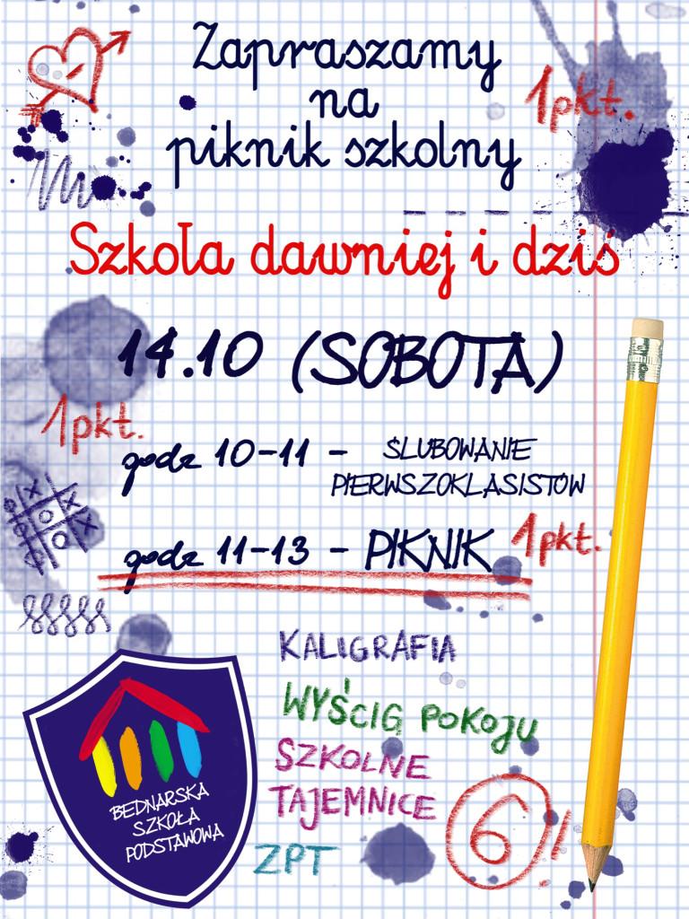 plakat szkola dawnie i dzis